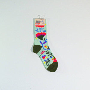 Women's Crew Socks - Stop Talking