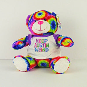 Plush Toy - Keep Austin Weird Tie Dye Bear