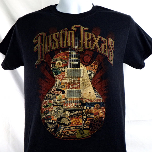T-Shirt - Austin Texas Live Guitar