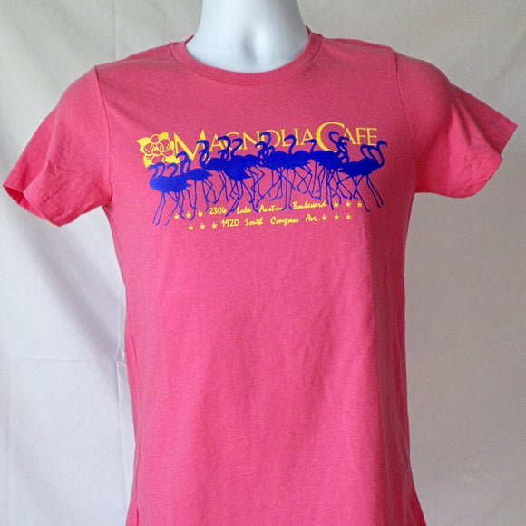 Woman's T-Shirt - Magnolia Flamingos Pink (Jr Cut)