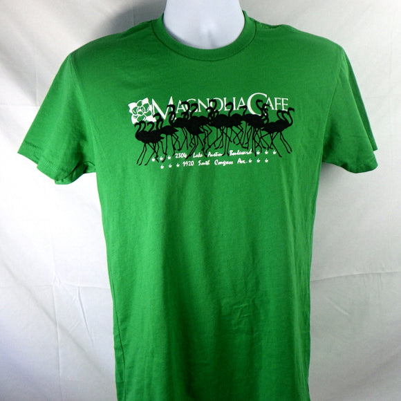 T-Shirt - Magnolia Flamingos Green