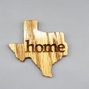 Wooden Magnet - Texas Home by Lazer Beam