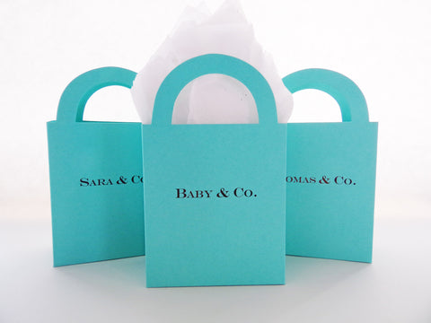 Personalized Candy Buffet/ Shopping Bag Favor Boxes