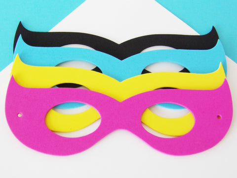 Girls Superhero Foam Mask Party Favors {12 Pack}