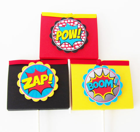 Boy Superhero Lollipop Party Favors