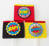 Boy Superhero Food Labels or Place Cards