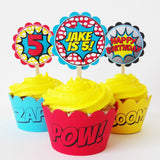 Boy Superhero Deluxe Bubble Party Favors