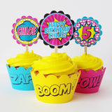 Girl Superhero Deluxe Bubble Party Favors