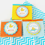 "Rubber Ducky Pinback Buttons Don't Say ""Baby"" Game"