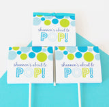 Blue About To Pop Candy Buffet Favor Bags