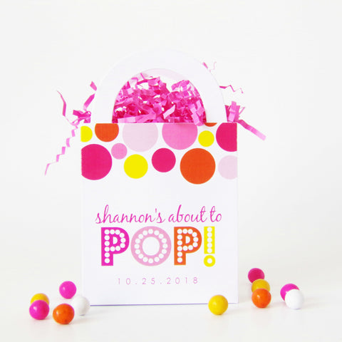 Pink About To Pop Candy Buffet Favor Bags