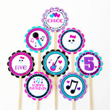 Rock Star Cupcake Toppers (24 pc)