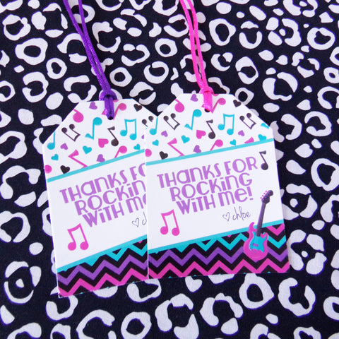 Rock Star XL Favor Tags