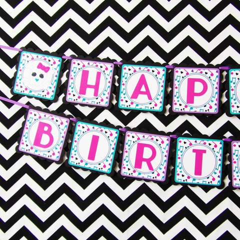 Rock Star Birthday Banner
