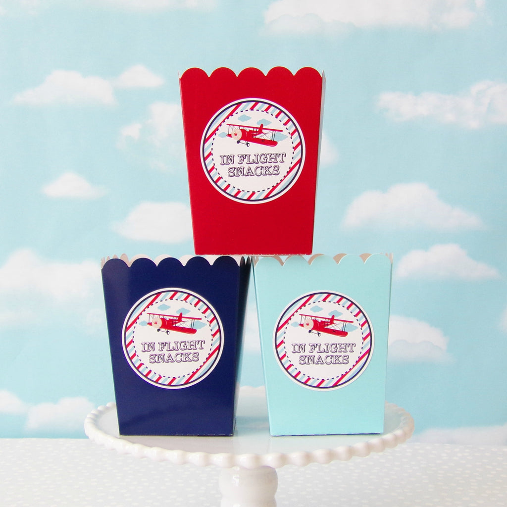 Printable Vintage Airplane Party Collection Diy By: Vintage Airplane Baby Shower Cupcake Toppers (24 Pc