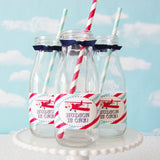 Vintage Airplane Cupcake Toppers & Wrappers Set