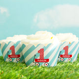 Little Red Wagon Die Cut Cupcake Toppers (24 pc)