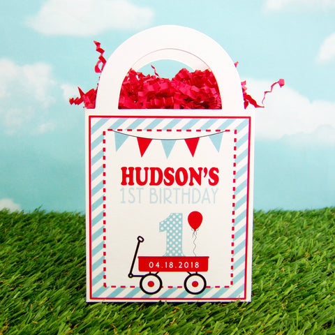 Little Red Wagon Favor Bags