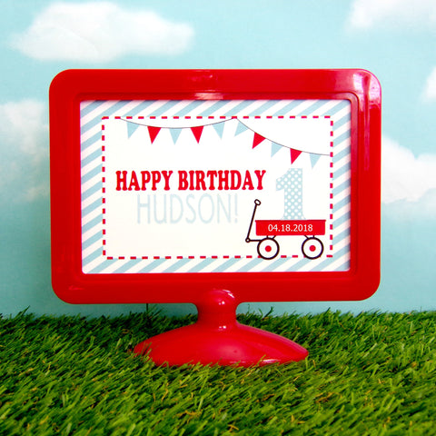 Little Red Wagon Centerpiece Frame