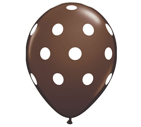 Chocolate Polka Dot Latex Balloons