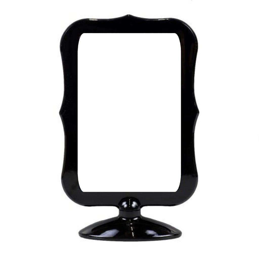 fancy double sided picture frame black