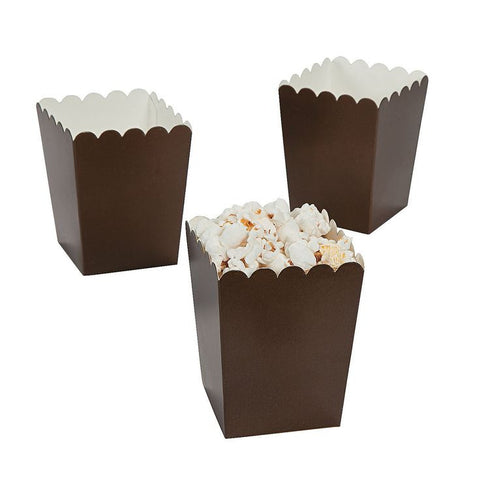 Chocolate Mini Popcorn Boxes