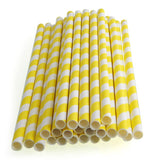 Paper Straws {Yellow Stripe}