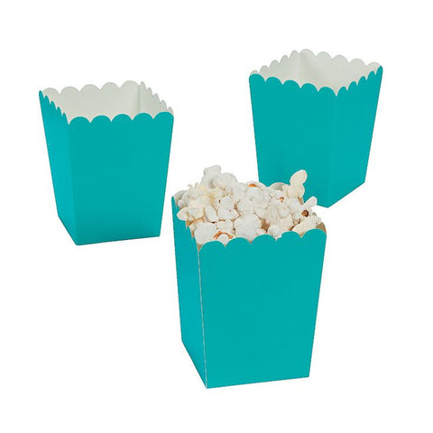 Aqua/Teal Mini Popcorn Boxes