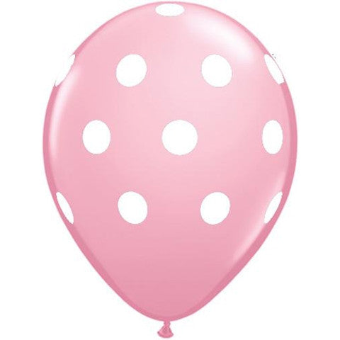 Blush Pink Polka Dot Latex Balloons