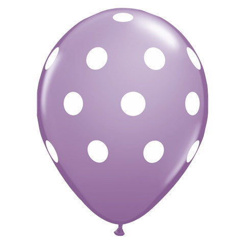 Lilac Polka Dot Latex Balloons