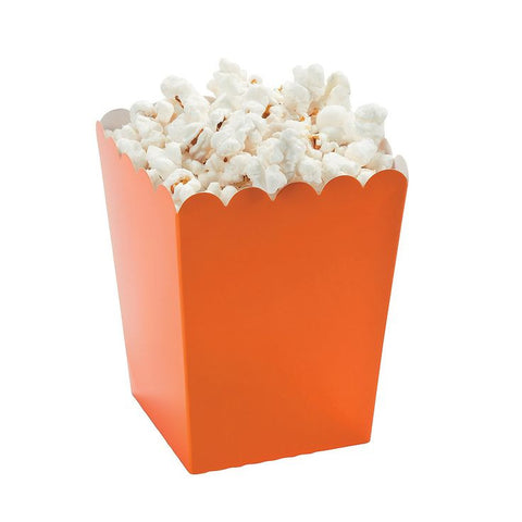 Orange Mini Popcorn Boxes