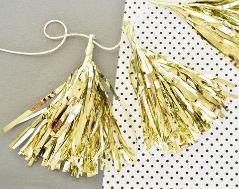 Metallic Mini Tassels {set of 4}