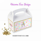 Unicorn Face Gable Boxes