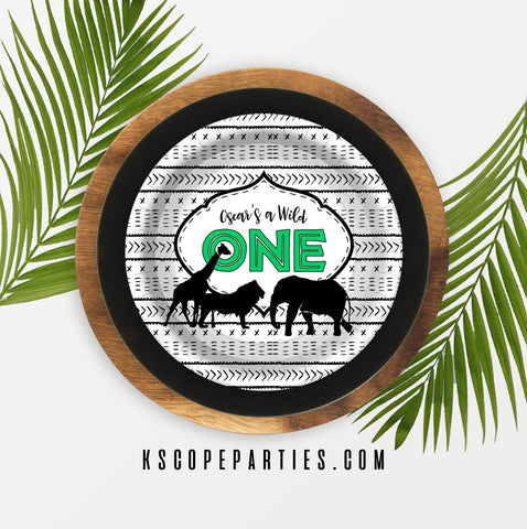 Wild One Personalized Dinner Plates {Free Shipping}