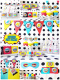 Boy Superhero Birthday Party Package for 12
