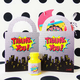Boy Superhero Party Favor Bags {12}