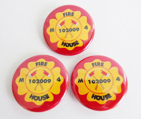 Fireman Personalized Badge Buttons