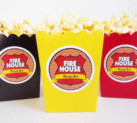 Fireman Popcorn Snack Boxes