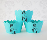 Audrey Hepburn Cupcake Wrappers {Fancy Cut}