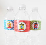 Birthday Train Water Bottle Labels