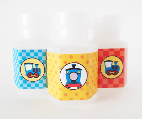 Birthday Train Bubble Party Favors