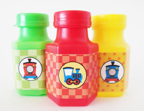 Birthday Train Deluxe Bubble Party Favors