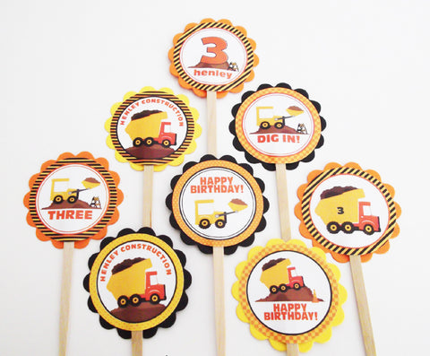 Construction Cupcake Toppers (24 pc)