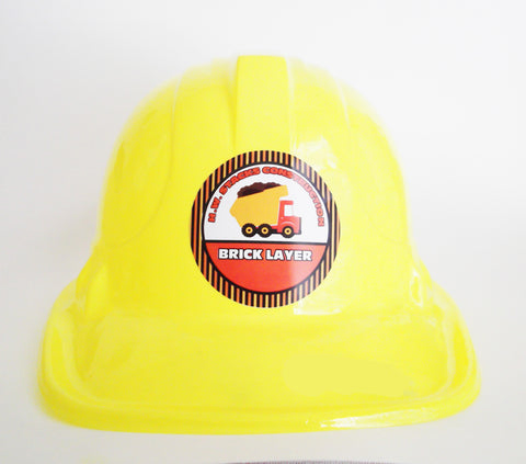 Construction Hat Stickers {Personalized}