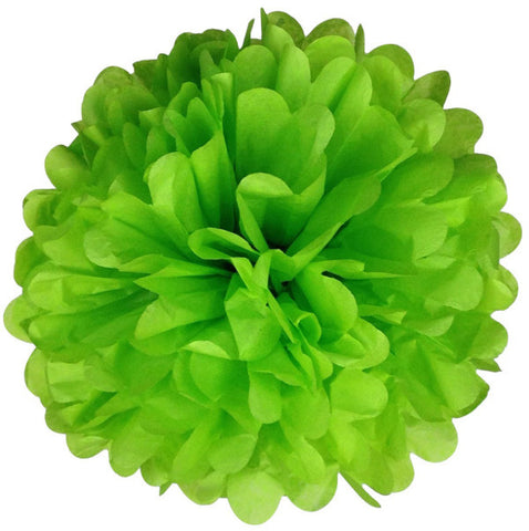 Tissue Paper Pom Pom Lime Green