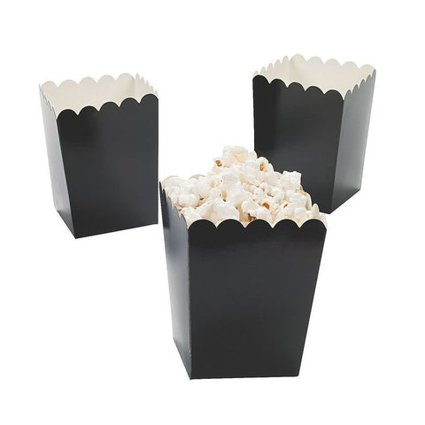 Black Mini Popcorn Boxes