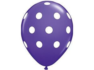 Purple Polka Dot Latex Balloons