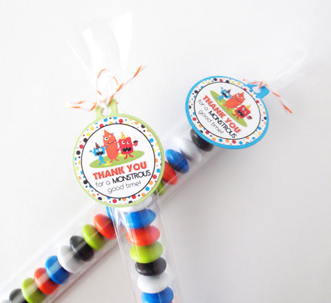 Little Monster Candy Bags & Mini Tags