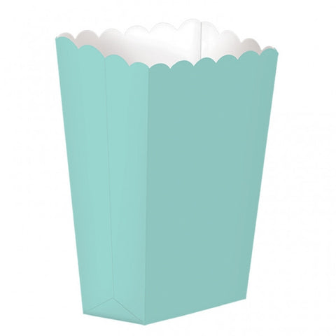 Robins Egg Blue Mini Popcorn Boxes
