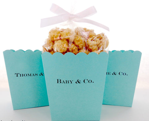 Personalized Popcorn Favor Boxes